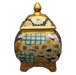 "15""H Chinese Porcelain Box Hand Painted Japanese Imari Style"