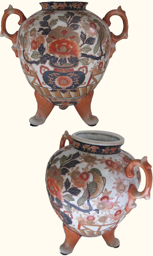 Chinese Porcelain Vase With Imari Decoration And Three Legs