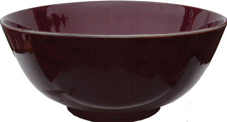 Chinese porcelain oxblood bowl.