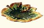 14 by 13 by 5 inch tall ceramic maple leaf bowl