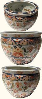 Imari floral fishbowl
