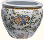 Chinese porcelain fishbowl