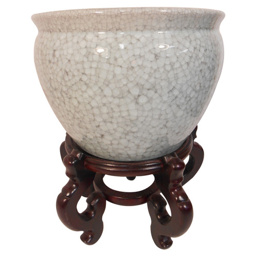 Light Crackle Celadon Fishbowl