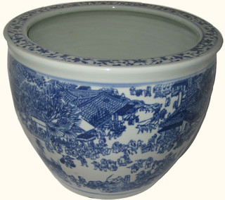 14 inch Porcelain fishbowl