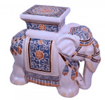 Multi colored elephant stool