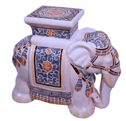 Multi colored elephant stool  sc 1 st  Oriental Furnishings & Garden Stool in Chinese Hand Painted Porcelain with Elepant 18u0027u0027H ... islam-shia.org