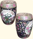 18 inch high porcelain garden stool