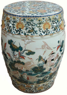 Enjoyable Garden Stool In Chinese Porcelain With Glazed Chinese Flower Theyellowbook Wood Chair Design Ideas Theyellowbookinfo
