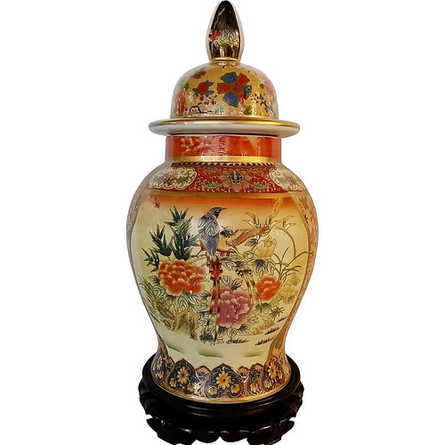 Painted Chinese Porcelain Jar