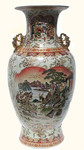 36  inch high Satsuma temple Vase