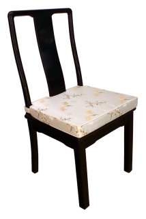 Solid Rosewood Oriental Side Chair With Cushion In Ming Style Design .