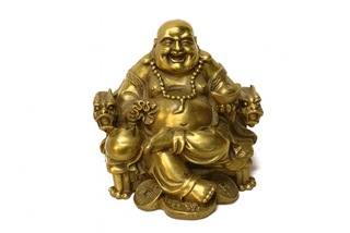 Buddha in chair