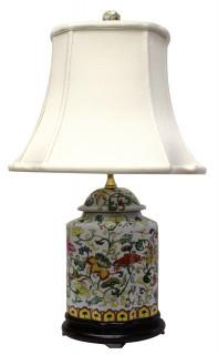 Asian style porcelain lamps