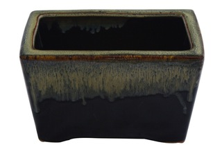 "8"" Rectangular Porcelain planter"