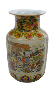 Chinese Porcelain Vase in Japanese Satsuma Palace Design