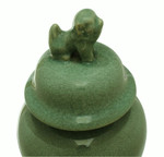 Celadon Lion Lid Jar