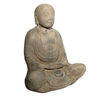 Buddha Meditating Garden Statue Stone