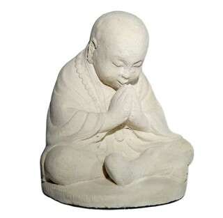Praying Monk Garden Statue