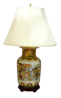 Oriental porcelain lamp