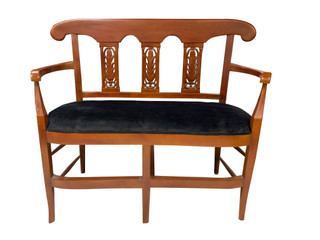 Queen Anne Bench Solid Mahogany