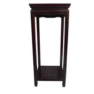 "36"" H. Rosewood Asian Flower Stand in Simple Ming Style."