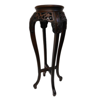 "36"" H Oriental Marble Top Stand"