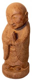 "16""H.  Smiling Stone Buddha  Japanese Garden Statue"