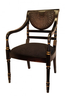 Lacquer and rattan Arm Chair