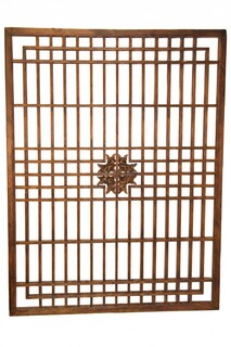 "39""H Chinese Antique Lattice Wall Panel"