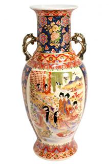 24'h Chinese Porcelain Vase in Satsuma style