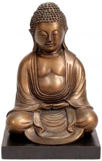 """8""""h. Bronze Japanese Kyoto Buddha Statue"""
