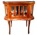 Mahogany kidney shaped dumb waiter