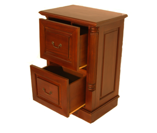 Chippendale file cabinet
