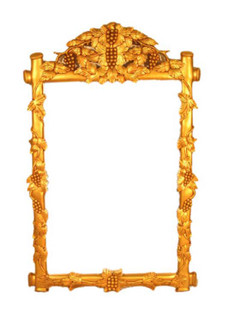 Grape Carved Gold Leaf Mirror