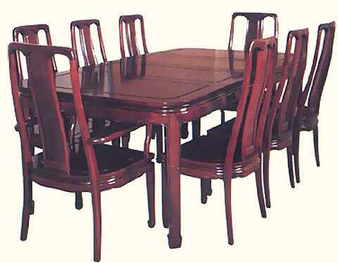 Attrayant 44 Inch Round Rosewood Dining Room Set With Two Leaves, 8 Chairs And 2 18