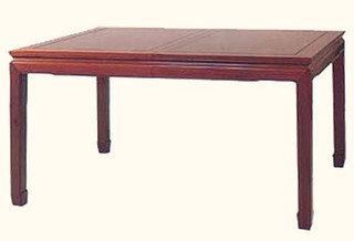 30?? high Exquisite solid rosewood rectangular Oriental dining table w 2 leaves.