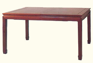 "30"" high Exquisite solid rosewood rectangular Oriental dining table w 2 leaves."