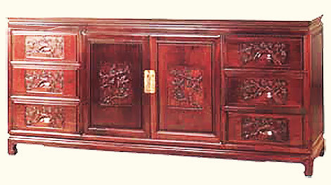 60 inch Bird and flower design dresser