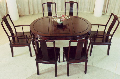 Oriental Dining Room, Carved Rosewood long life design with Ming ...
