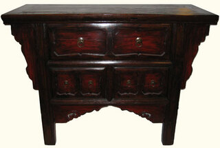 Chinese antique elmwood cabinet