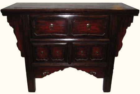 Chinese antique elmwood cabinet