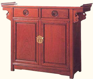 Altar table with one drawer and two doors