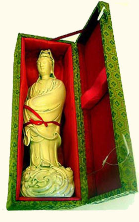 15 inch tall Chinese porcelain statue