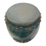 Ceramic double happiness stool