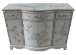 Rounded Front Oriental Hall Chest