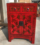 Antique Chinese Red cabinet