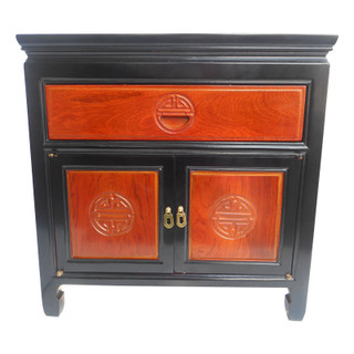 Asian two tone end table