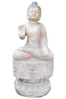 "27""H Stone Garden Buddha Statue"