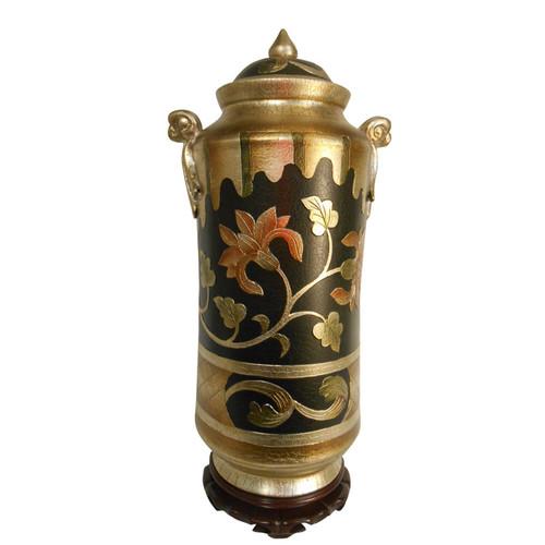 oriental art deco jar