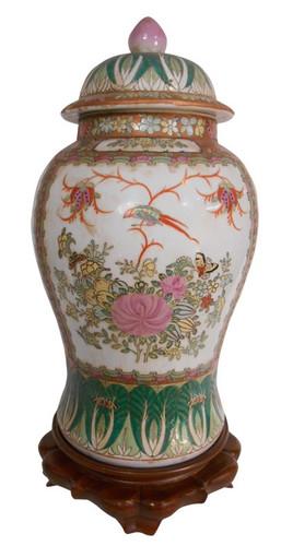 Rose medallion temple Jar
